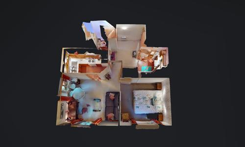 plan dessus appartement soleil levant